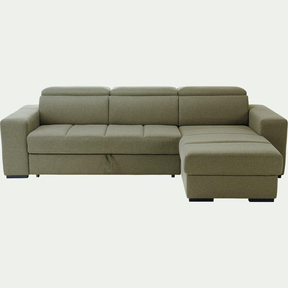Canapé d'angle réversible et convertible en tissu - beige alpilles-ORIGANO