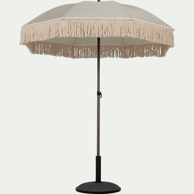 Parasol à franges gris D160cm-RICCIA