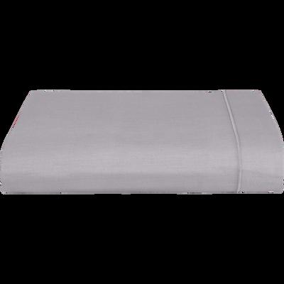 Drap plat en coton Gris restanque 270x300cm-CALANQUES