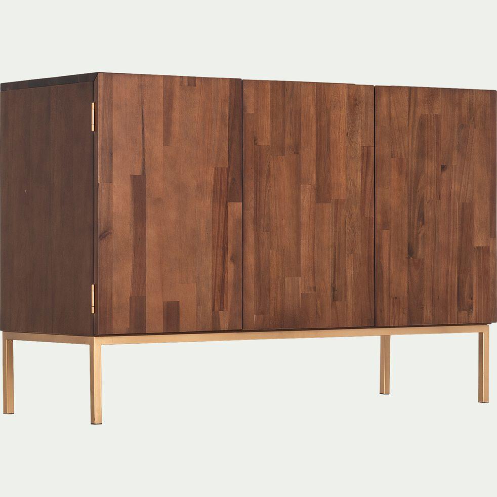 Buffet 3 portes en bois L120xH80xP45cm-ACACIA
