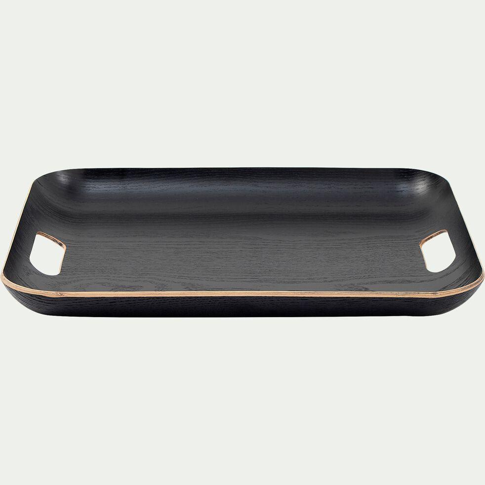Plateau rectangle en bois L45xl36cm - noir-SAULE