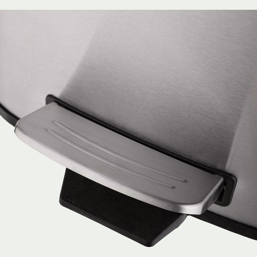 Poubelle en acier - gris 30L-CRISTO