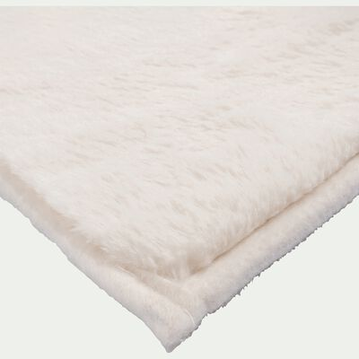 Tapis imitation fourrure blanc ventoux 100x150cm-ROBIN