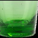 Verre vert en verre recyclé soufflé à la bouche 11cl-BELDI