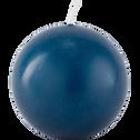 Bougie boule bleu figuerolles-HALBA