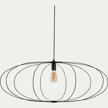 Suspension ovale en acier - noir D90cm-SFER