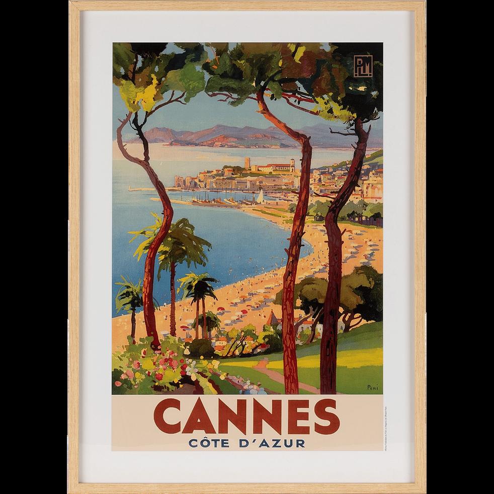 Image encadrée de Cannes 53x73cm-PLM CANNES