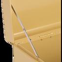 Malle de rangement en métal beige l56xH25xP35cm-ALSA