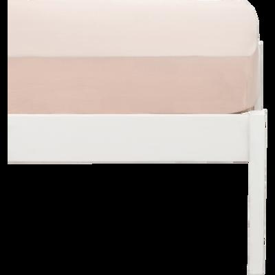 Drap housse en coton lavé - 90x170 cm-CALANQUES
