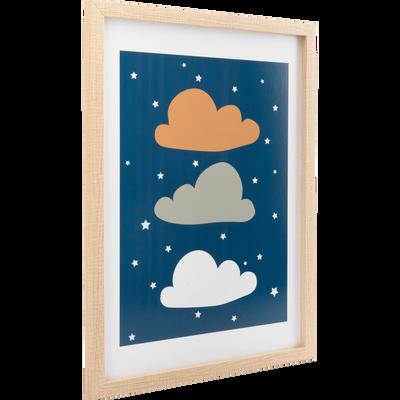 affiche encadree et imprimee nuages 30x40cm-NUAGE