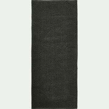 Tapis de bain chenille en polyester - vert cèdre 50x120cm-PICUS