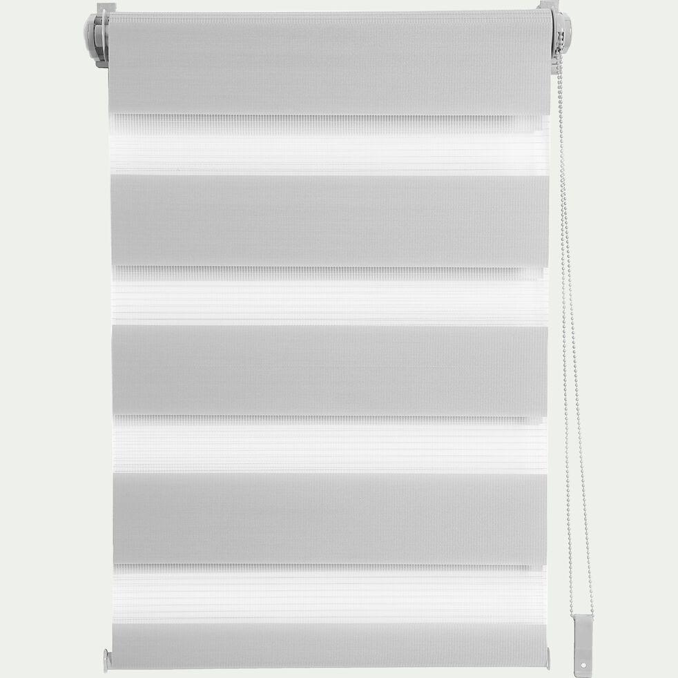 Store enrouleur tamisant - gris clair 92x190cm-JOUR-NUIT