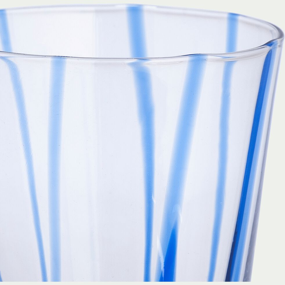 Verre à eau - bleu D8xH9cm-MADERE