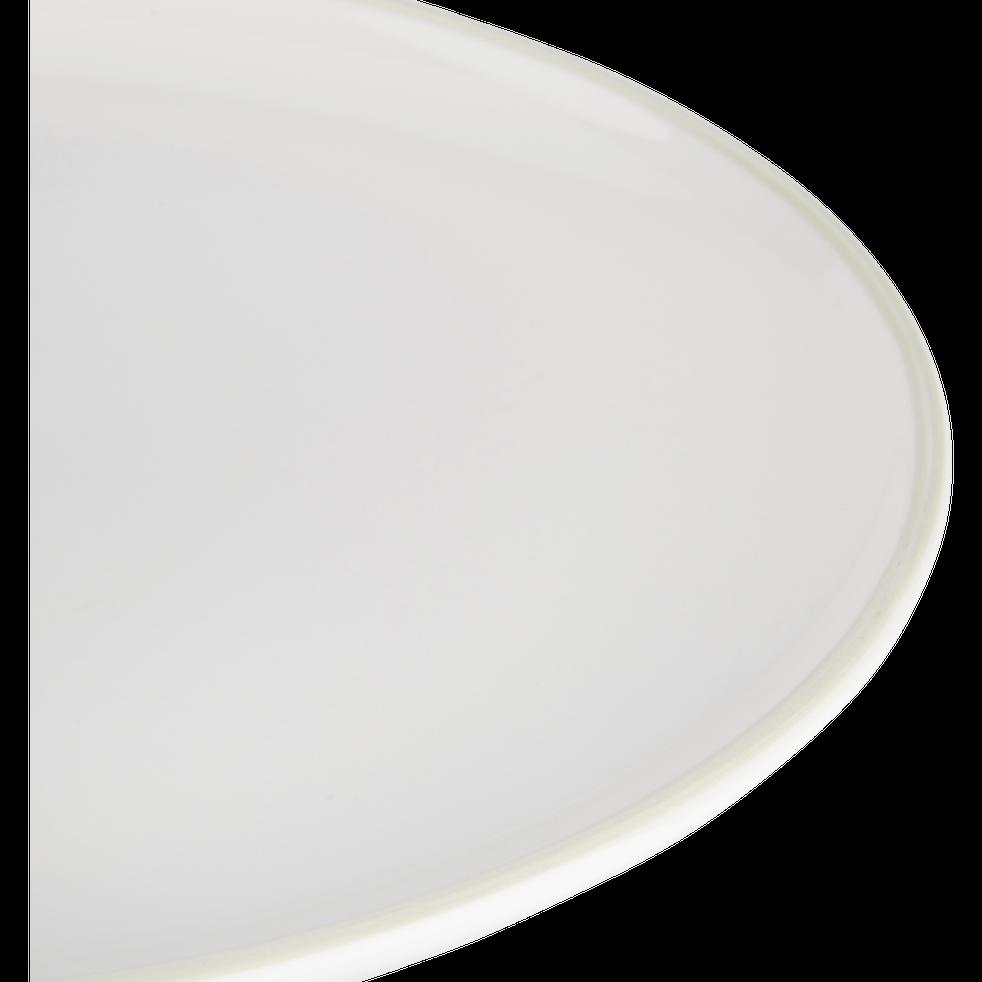 Assiette dessert en faïence blanc ventoux D20cm-LANKA
