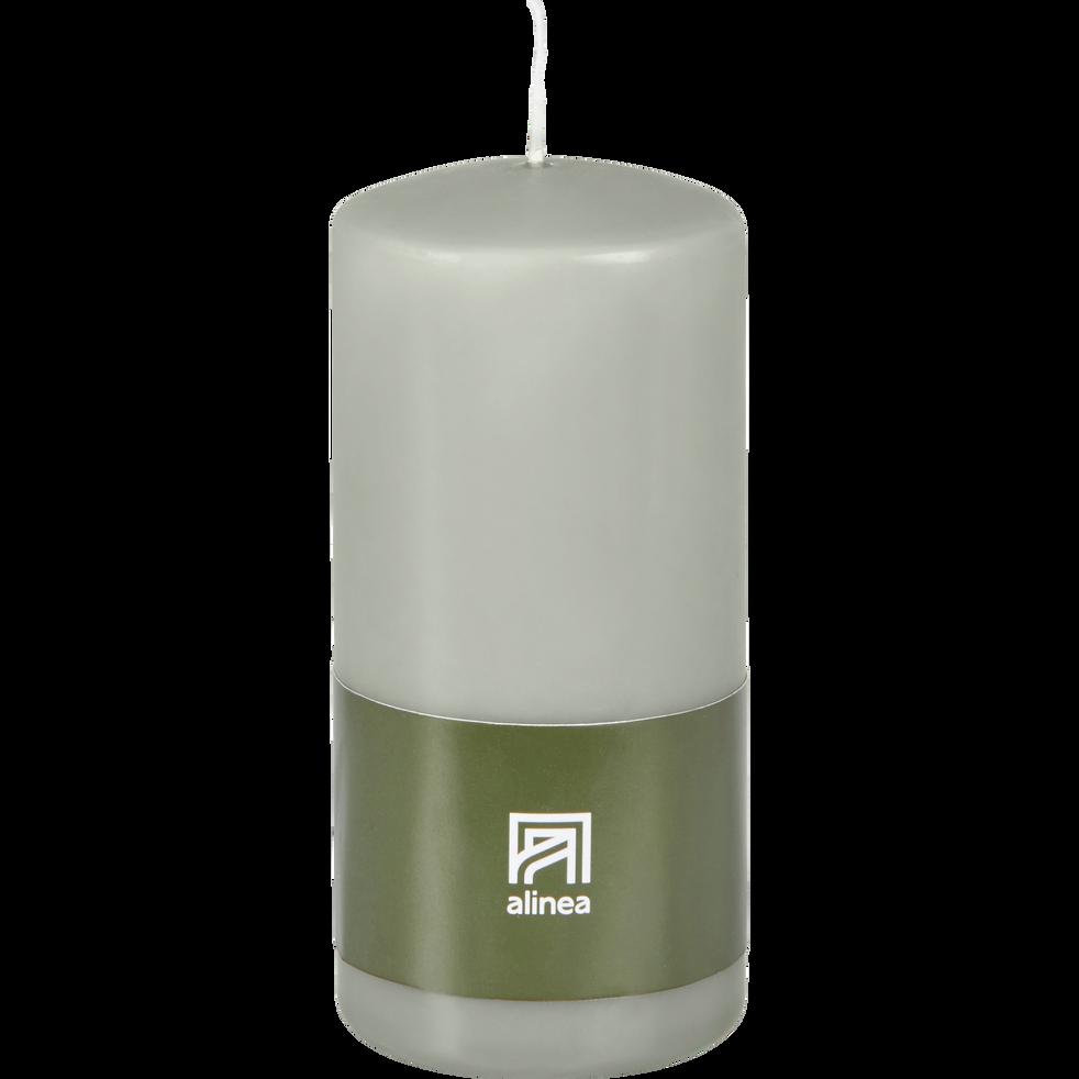 Bougie cylindrique vert olivier-HALBA