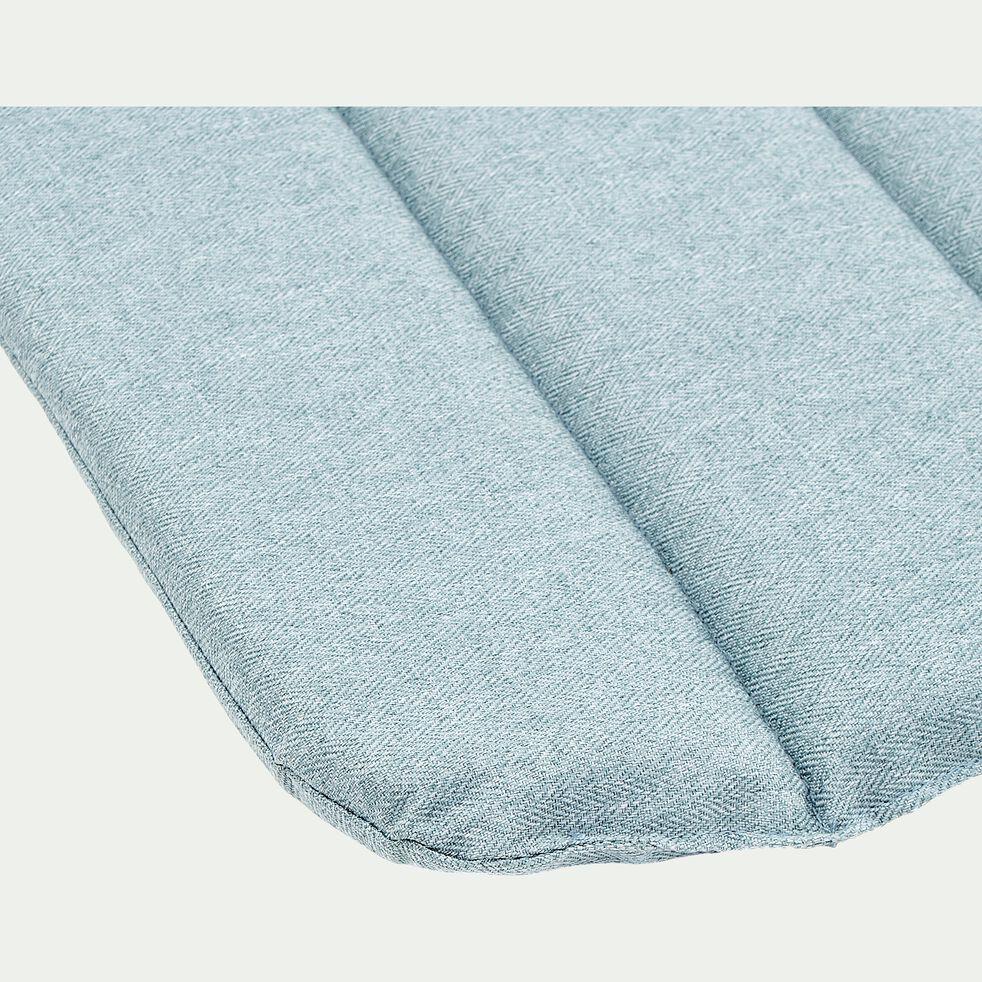 Galette de chaise indoor & outdoor en tissu déperlant - bleu calaluna-KIKO