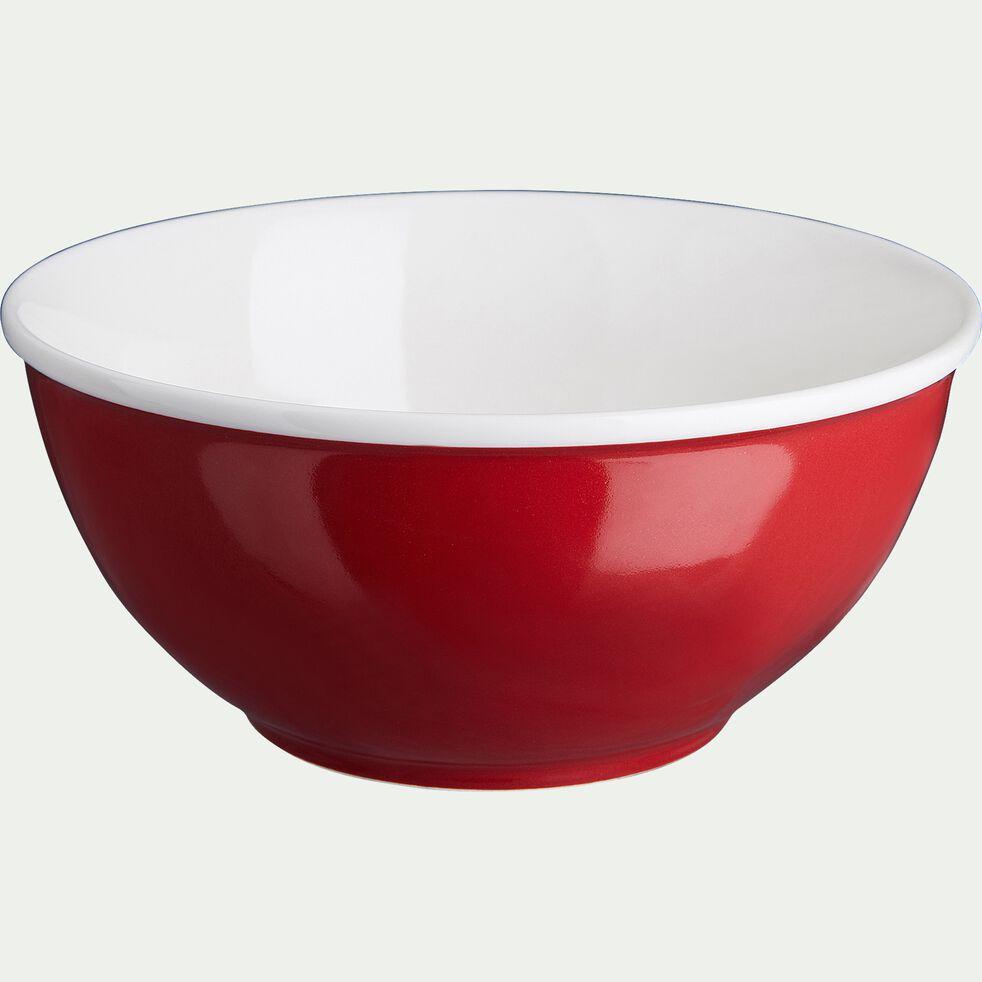 Bol en porcelaine - rouge ricin D16cm 75cl-CAFI