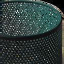 Photophore en métal - bleu H12,5cm-ZACHARIE