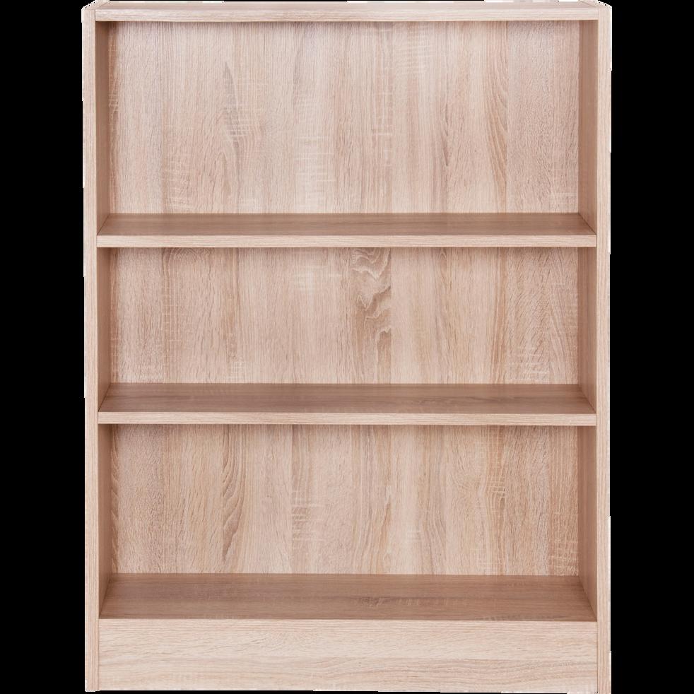 Petite bibliothèque 3 tablettes coloris chêne clair L79cm-Biala