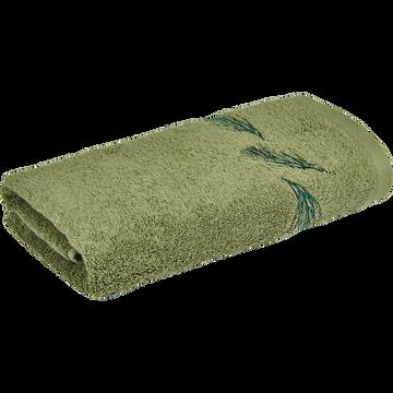 Serviette de bain 50x90cm vert olivier-AMBIN