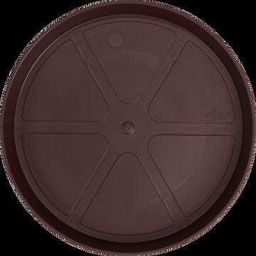 Soucoupe ronde en plastique mûre D28cm-soucoupe