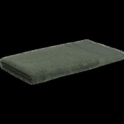 Drap de douche 70x140cm en coton vert cèdre-MINH