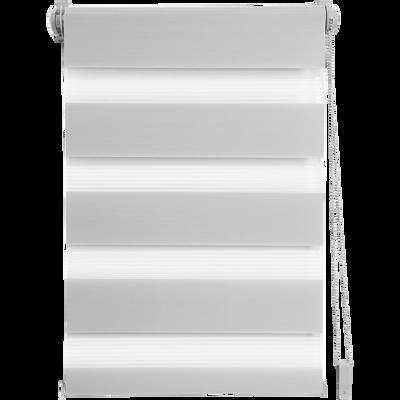 Store enrouleur tamisant gris clair 42x190cm-JOUR-NUIT
