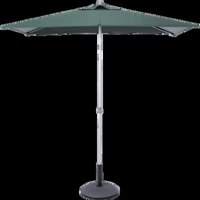 Parasol de balcon rectangle vert foncé 220x130 cm-ACT