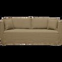 Canapé 5 places fixe en tissu vert cèdre-VENCE