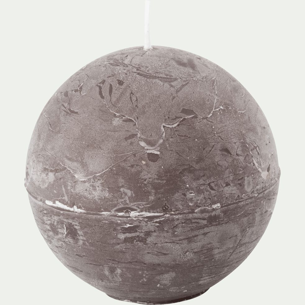 Bougie ronde brun châtaigner D8cm-BEJAIA