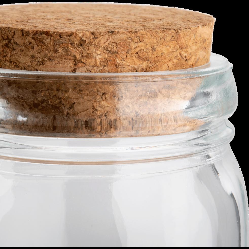 Lot de 4 pots en verre couvercle liège de 220ml-ROSSI