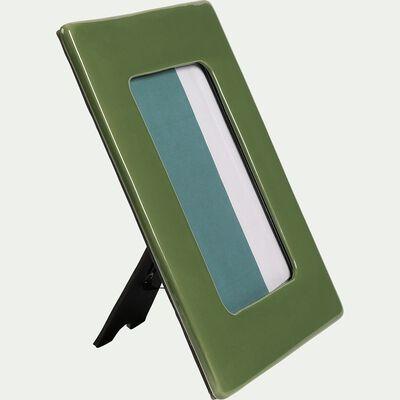 Cadre photo en céramique - vert 17,5x22cm-CAPUCINES