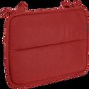 Galette de chaise déperlante rouge 38x28cm-PIMS