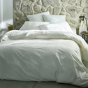 Drap plat en coton Blanc capelan 180x300cm-CALANQUES