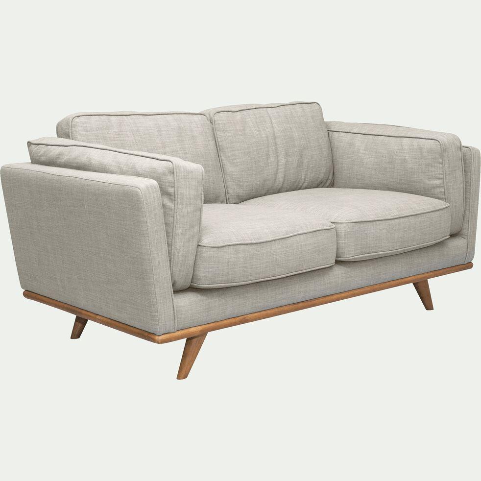 Canapé 2 places fixe en tissu beige-ASTORIA