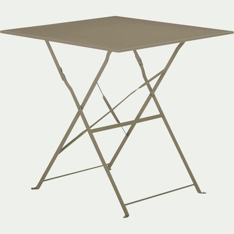 Table de jardin pliante taupe L70cm (2 places)-CERVIONE