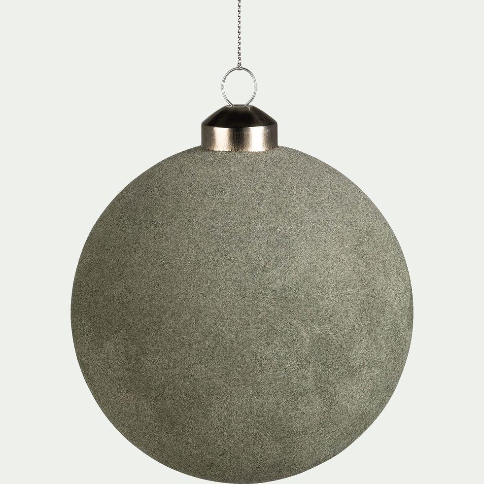 Boule de Noël en verre vert D10cm-BACHI