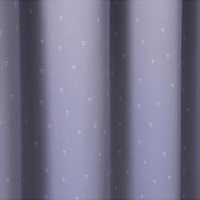 Rideau occultant gris motifs coeurs 140x240cm pour enfant-ICE CREAM
