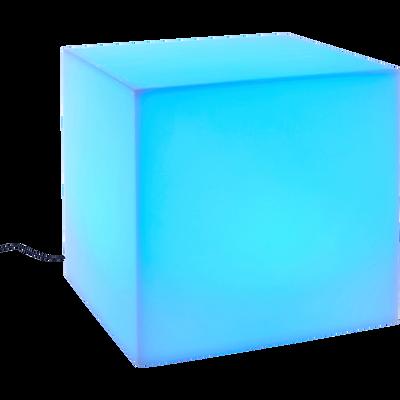 Cube lumineux multicolore autonome 40x40cm-CUBIK