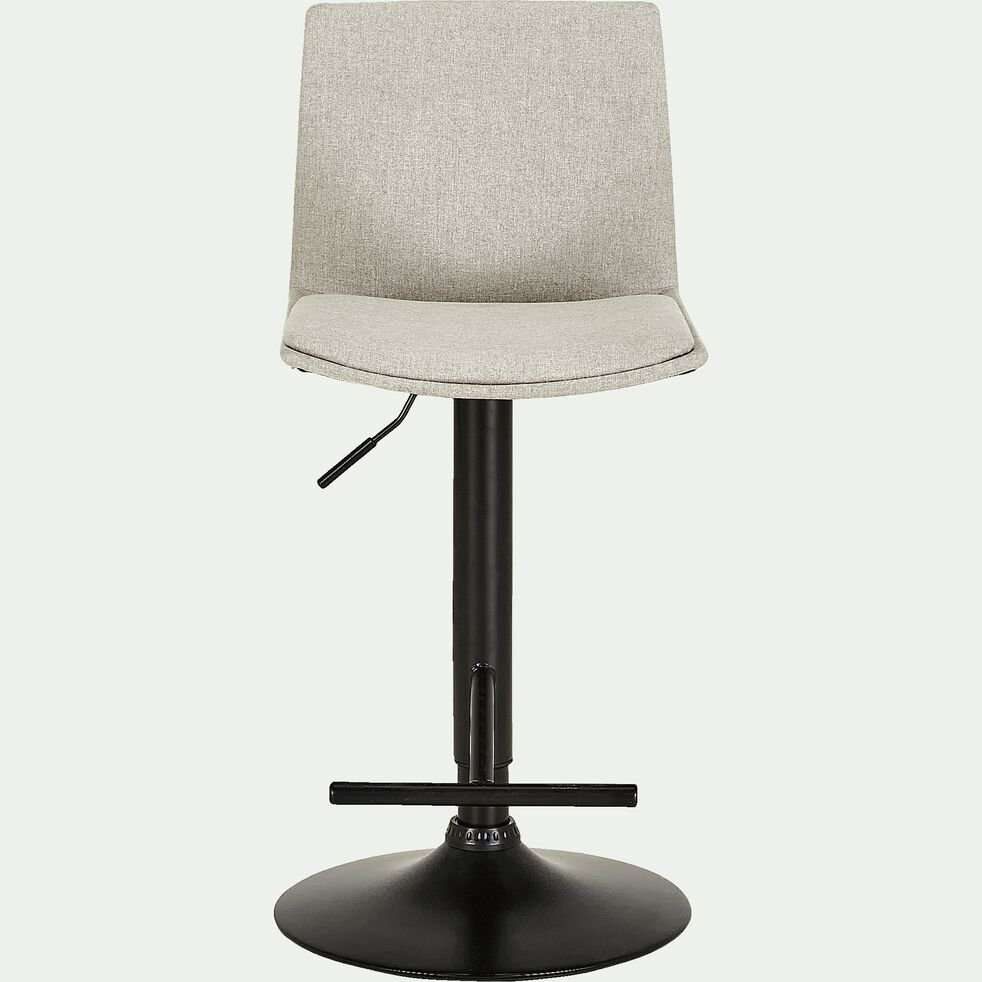 Chaise de bar ajustable en tissu - gris borie H60 à 81cm-THORONET
