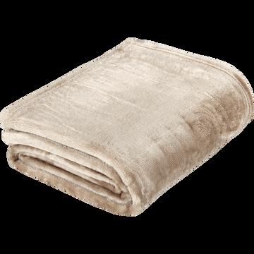 Plaid doux beige roucas (plusieurs tailles)-ROBIN