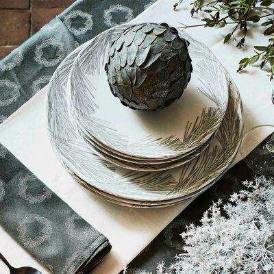 Gamme de vaisselle en grès blanc-COURONNE
