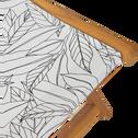 chilienne à motif Laurier blanc-UDINE