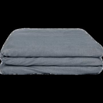 Housse de couette en coton chambray Gris anthracite - 260x240 cm-FRIOUL