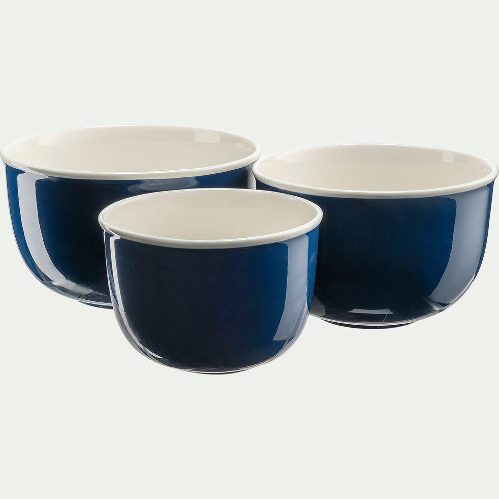Saladier en porcelaine - bleu figuerolles D23cm-CAFI
