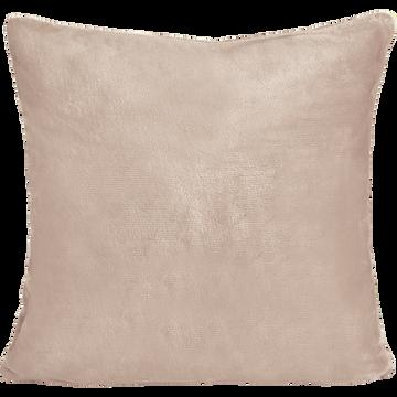 Housse de coussin effet doux rose argile 65x65cm-ROBIN
