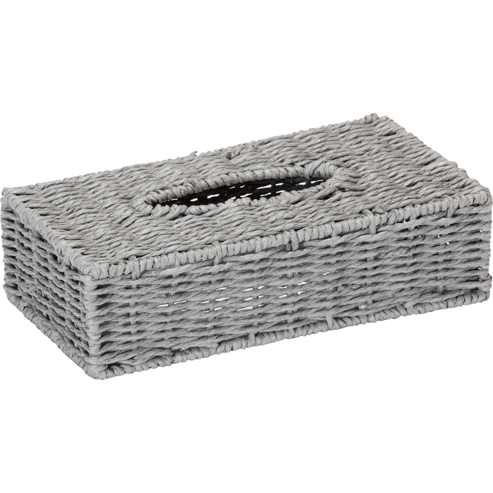 Boîte à mouchoirs grise rectangulaire en papier-Regate