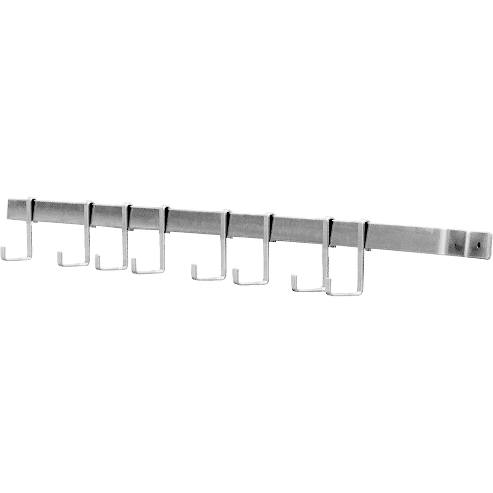 Barre de crédence avec 5 crochets-BLAKE GALVA