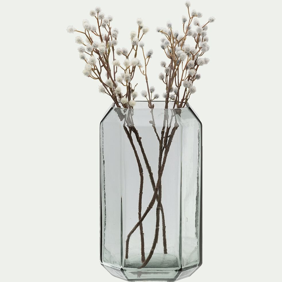 Vase en verre gris H28cm-COME