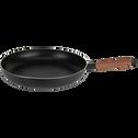 Poêle en aluminium noir D32cm (tous feux dont induction)-PADENA